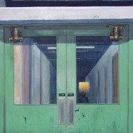 Green Fire Doors painting by Richard Harby